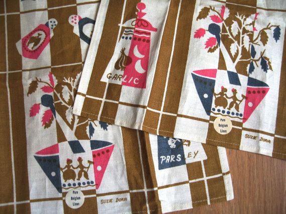 Kitchenalia Tea Towel New! Mid Century Fabulous Kitchen Decor