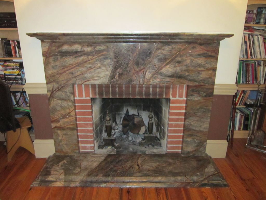Fireplace Surround Design Ideas blue and gray glass tile fireplace surround Creating Granite Fireplace Surround Fireplace Design Ideas