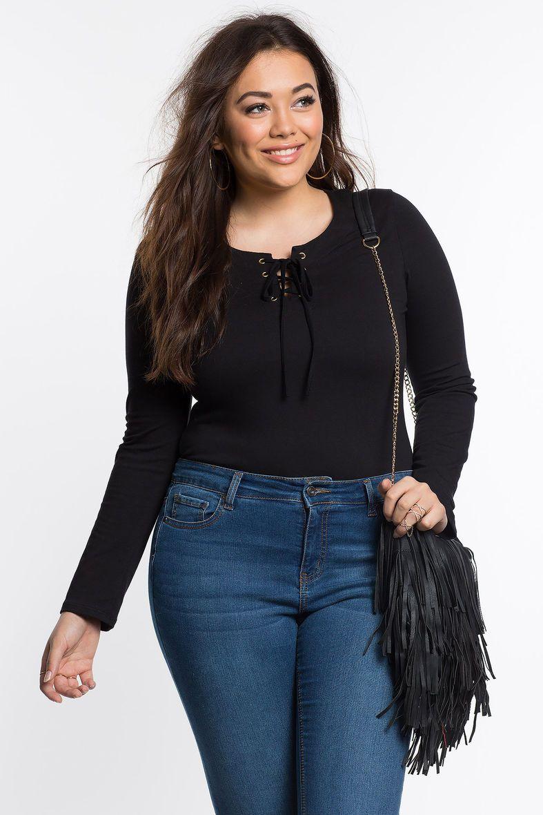 Lace bodysuit styles  Lenora Lace Up Bodysuit  style  Pinterest  Bodysuit