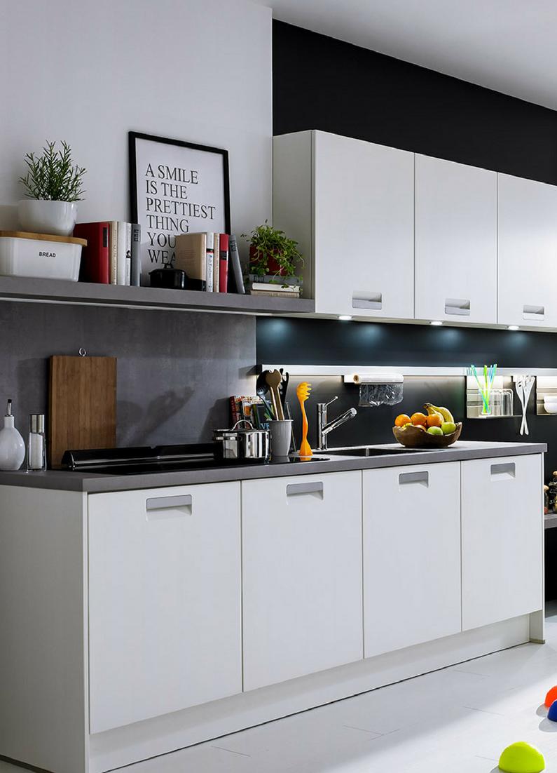 Weiße Küchen: 7 Ideen und Bilder für Küchen in Weiß | Grau ...