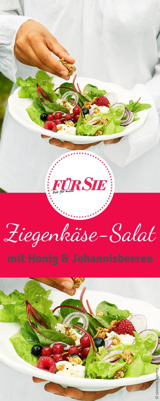 ziegenk se salat mit honig salate pinterest ziegenk se salat johannisbeeren und ziegenk se. Black Bedroom Furniture Sets. Home Design Ideas