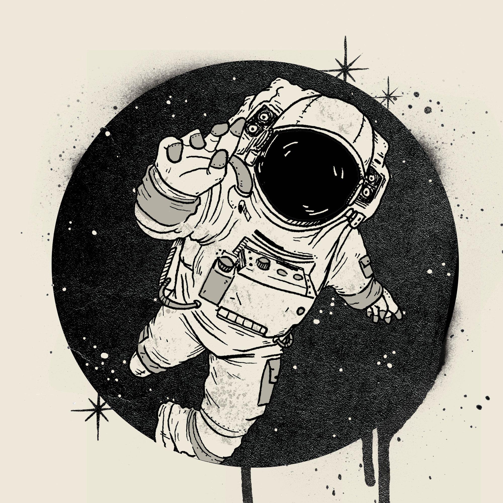 Шуточные для, картинка с космонавтом так и не стал