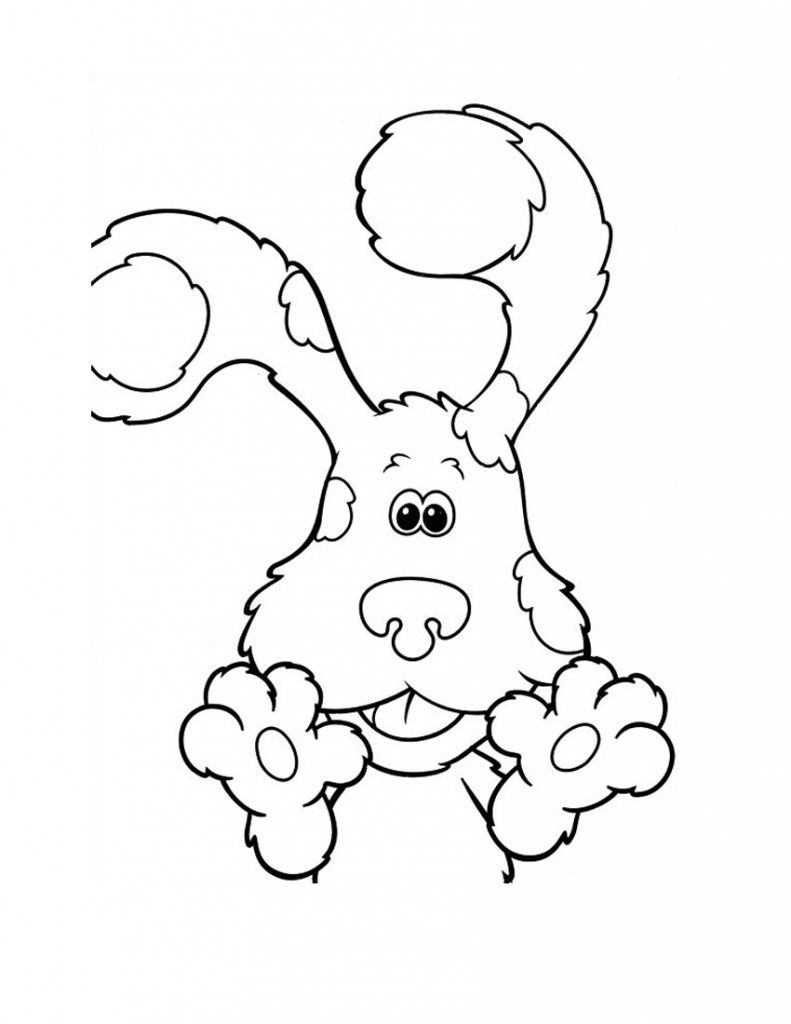 Free Printable Blues Clues Coloring Pages For Kids Coloring Pages Cartoon Coloring Pages Coloring Pages For Kids
