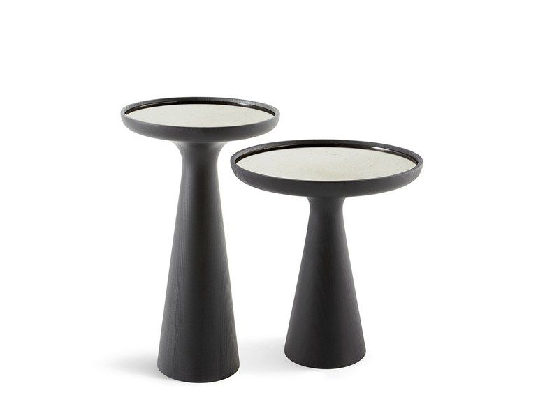 Lacquered Round Solid Wood High Side Table Fante By Gallotti Radice Coffee Table Wood Glass Wood Coffee Table Side Table