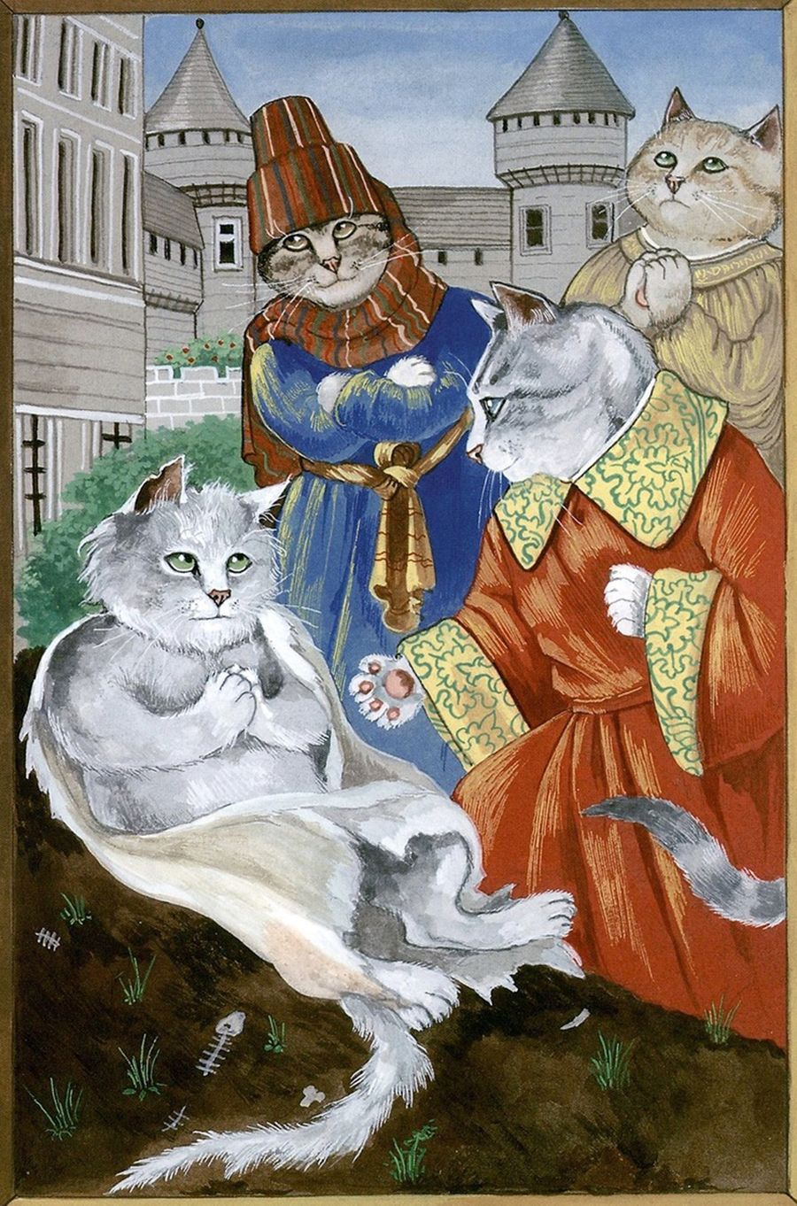 Susan Herbert. Medieval Cats в 2020 г. | Кошачий арт ...