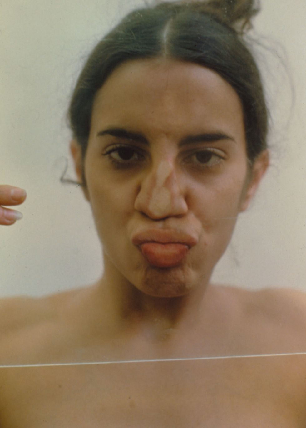 'Untitled (Glass on Body Imprints)', 1972/1997, de Ana Mendieta. © Ana Mendieta / SAMMLUNG VERBUND, Viena