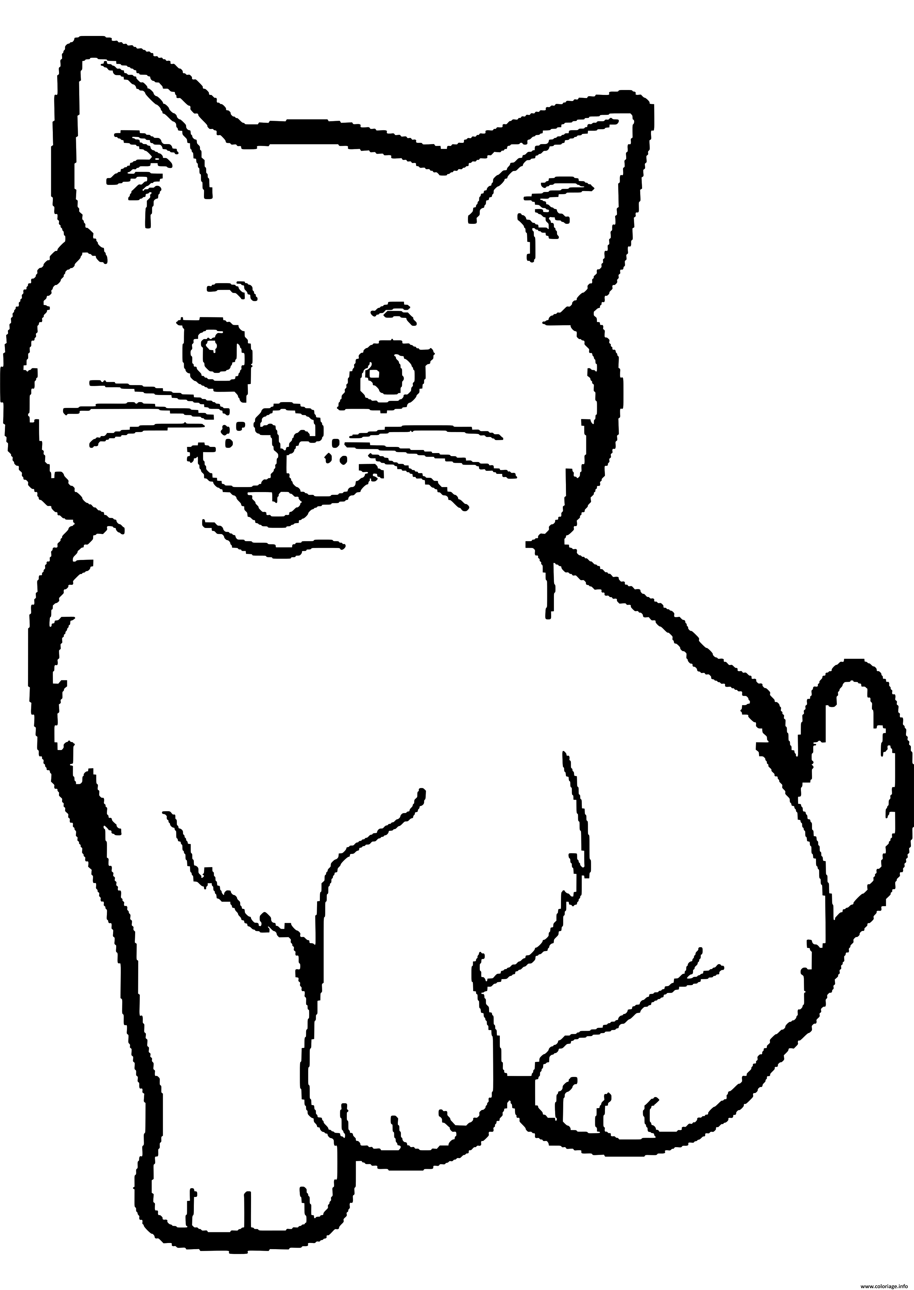 Coloriage Dessin Animaux Chat A Imprimer Coloriage Chat