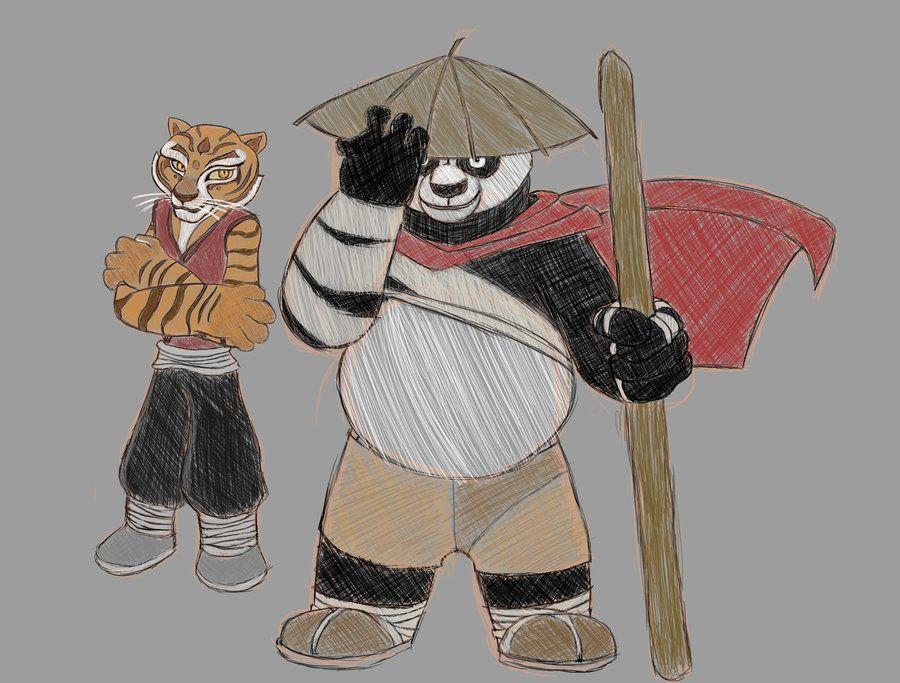 Tigress and Po redo by AzuriteRaven on DeviantArt