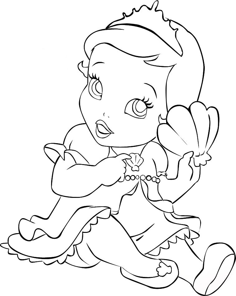 Baby Ariel Mermaid Coloring Pages Ariel Coloring Pages Disney Princess Coloring Pages