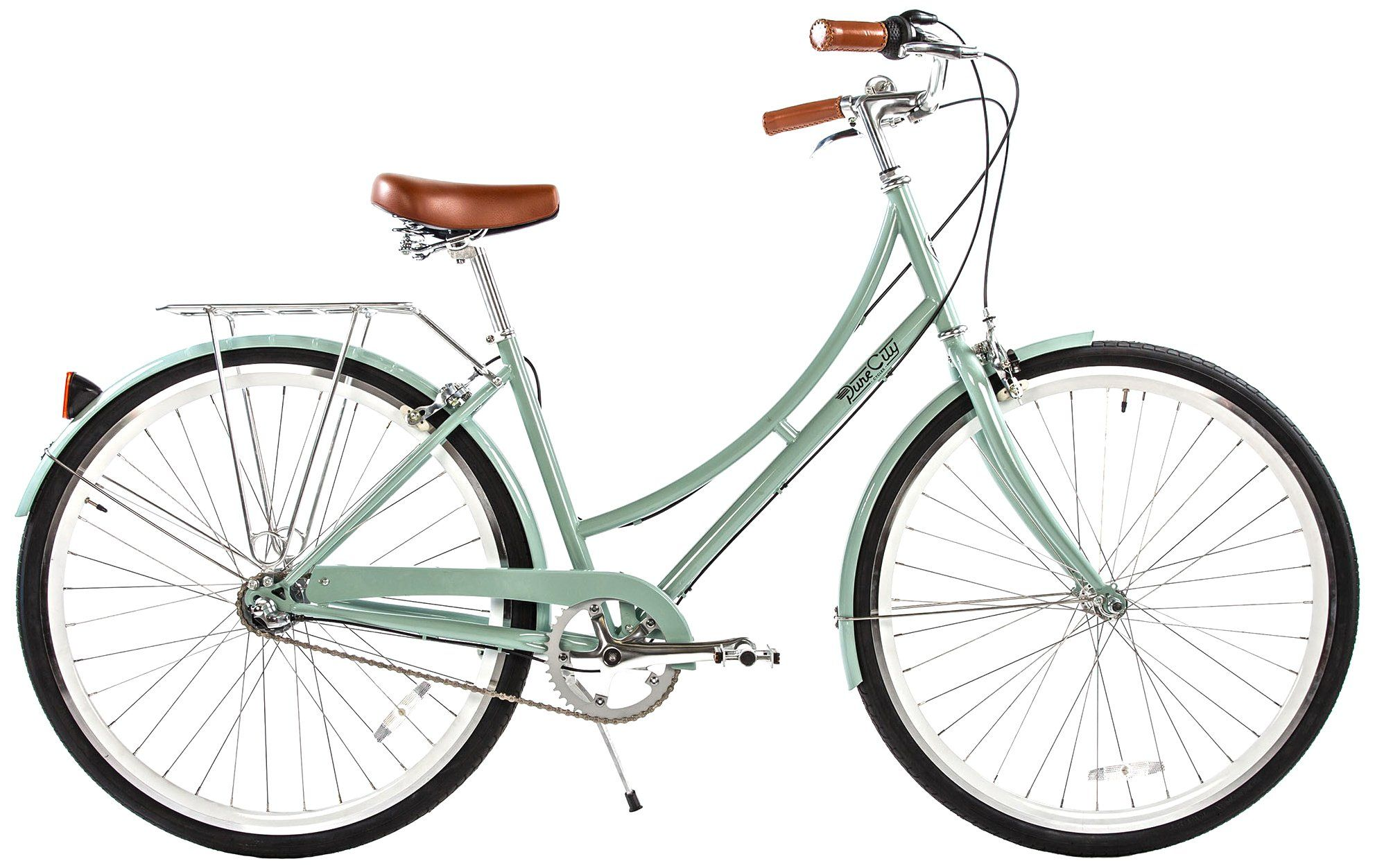 Amazon Com Pure City Cycles Dutch Style Step Thru City Bike 1 Speed 45cm The Abbey Cream Mint Green Hybrid Bicycles Comfort Bike City Bicycles Bicycle