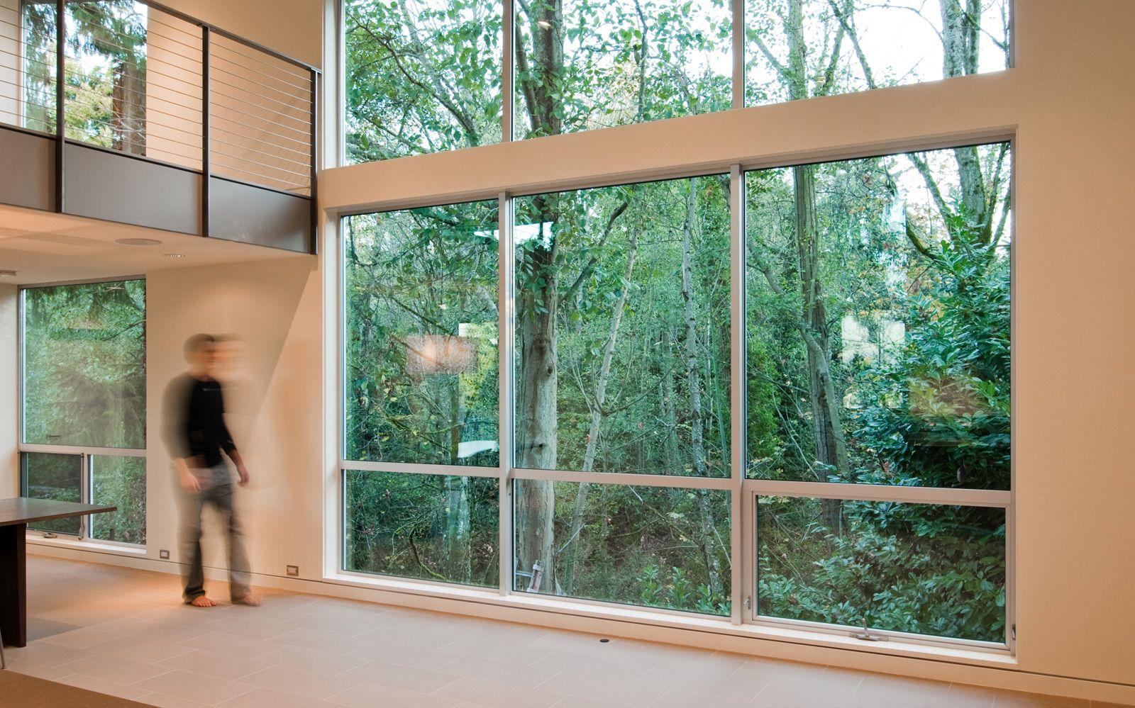 Build Llc Csh01 Living 02 Aluminium Windows Building A House