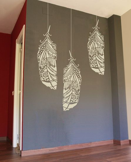 Bohemian Feather Wall Stencil Reusable Stencils For Home: Siberian Taiga In 2019
