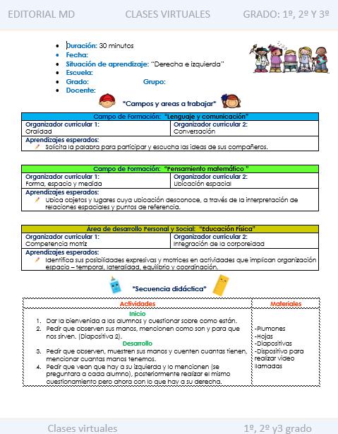 Ejemplo Planeacion Para Dar Clases Online 01 Bitacora Escolar Actividades Musicales Preescolares Planificacion Docente