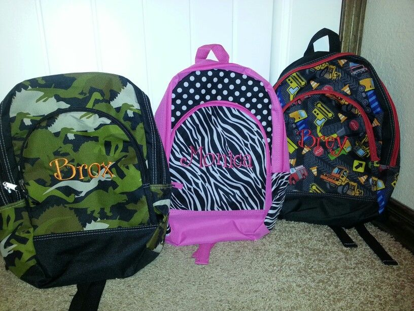 Personalized back packs $16
