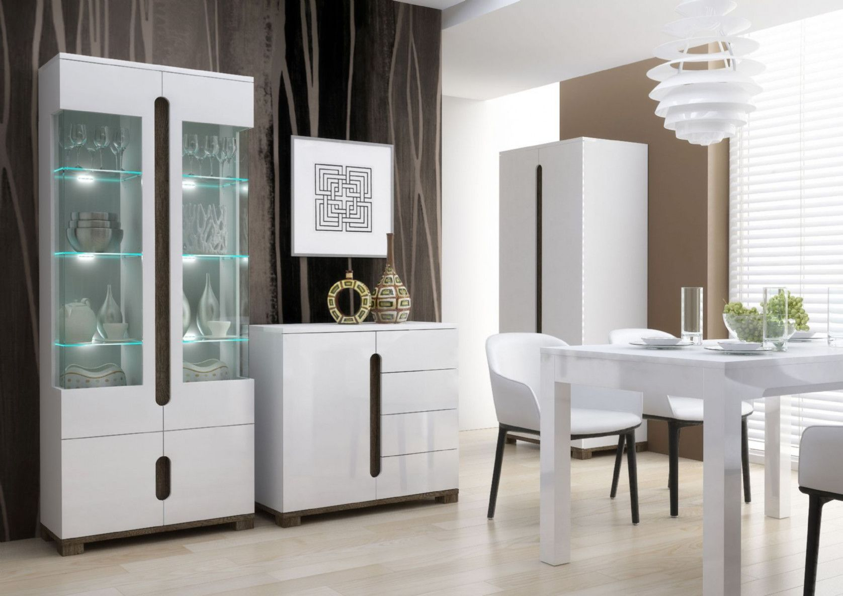 2018 White Display Cabinets With Glass Doors