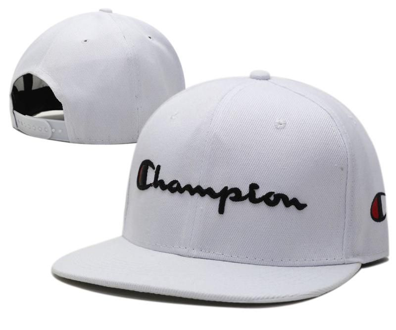 Mens Champion Reverse Weave Script Champion Logo Embroidery Baseball Snapback  Hat - White e5fafce7608