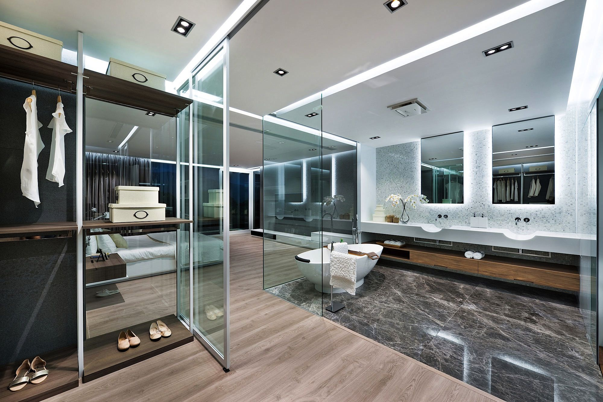 Dreaming On Master Bedroom Suite Wattached Bath Millimeter - Bedroom attached bathroom design