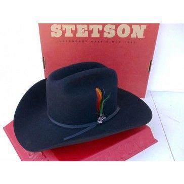 Stetson Cowboy Hat Beaver 4X Fur Felt Merced Black SF04420740-MRCD ... 2ce461e84bf9