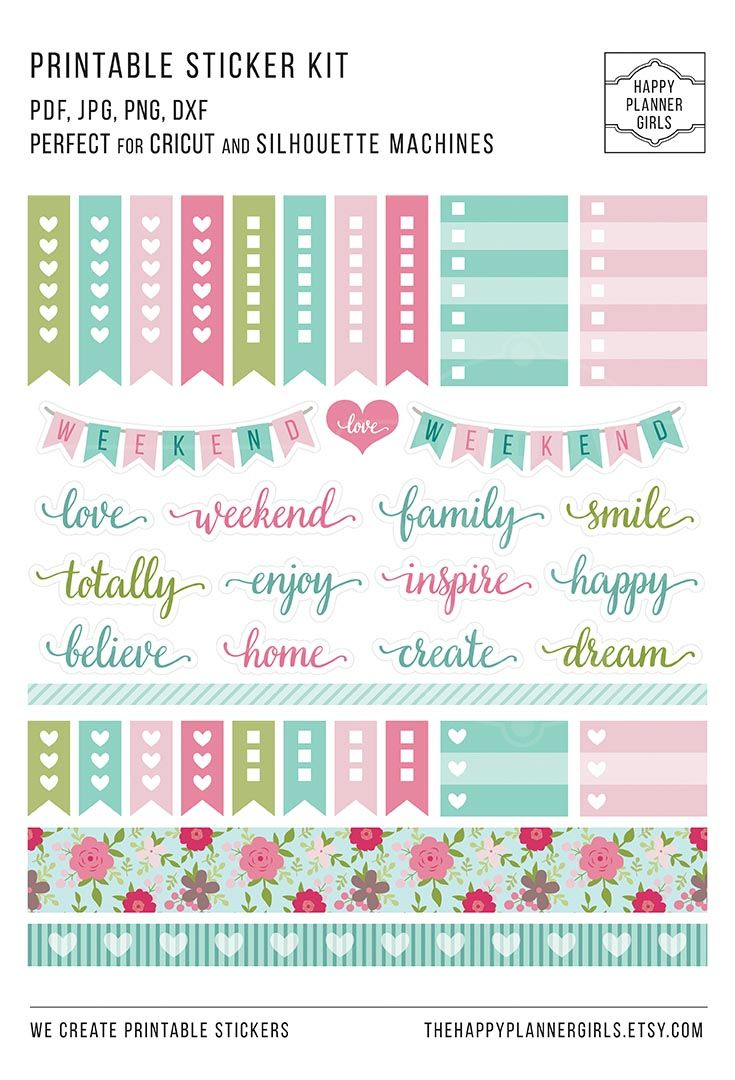 july weekly planner, happy planner stickers, weekly planner stickers