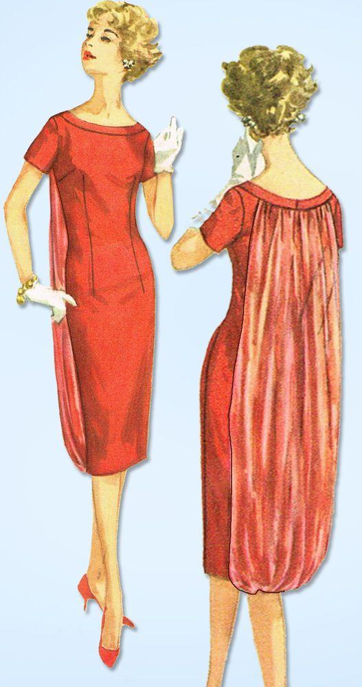 1950s Vintage Simplicity Sewing Pattern 2764 Uncut Misses Cocktail Dress Sz 36 B #Simplicity #CocktailDressPattern