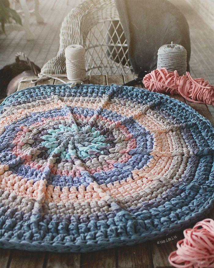 Tutorial para hacer alfombra redonda de trapillo con relieves ...
