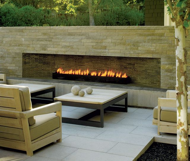25 Best Modern Outdoor Design Ideas Modern outdoor fireplace