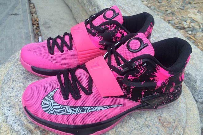 newest abaaf e0182 Pink with Black Nike KD VII (7) Fireworks Mens Sports Footwear