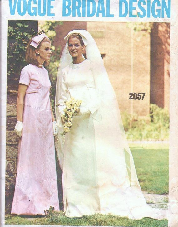 Vintage Sewing Pattern 1960\'s Wedding Dress Vogue Bridal Design 2057 ...
