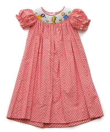 Loving this Red Fairytale Smocked Bubble-Sleeve Dress - Infant & Toddler on #zulily! #zulilyfinds