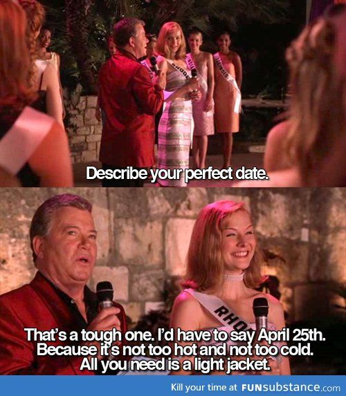 Describe your perfect date || Miss Congeniality