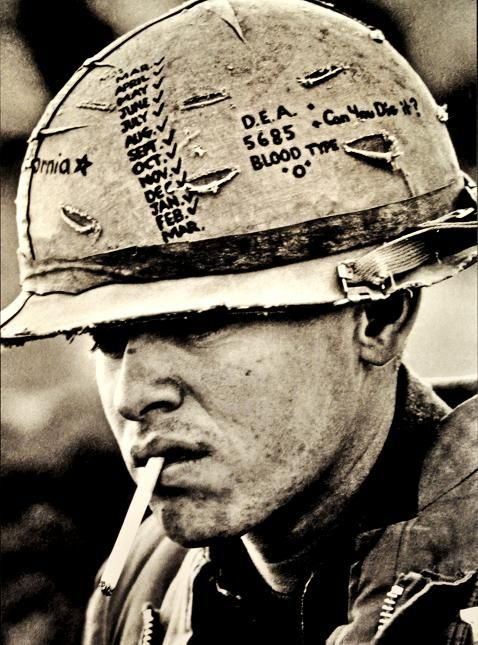 vietnam us soldier the helmet says it all history