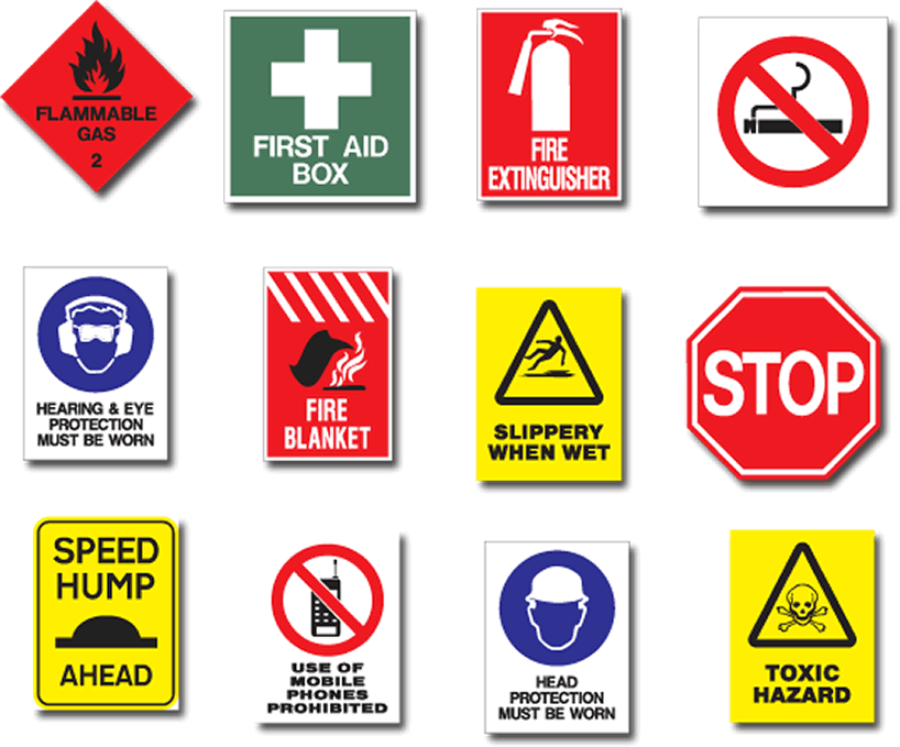 Learning About Health And Safety Signs Travel Pinterest Safety