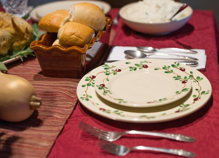 Cranberry Dinnerware Sets the Holiday Table. Emerson Creek Pottery   Made in the USA Image & Cranberry Dinnerware Sets the Holiday Table. Emerson Creek Pottery ...