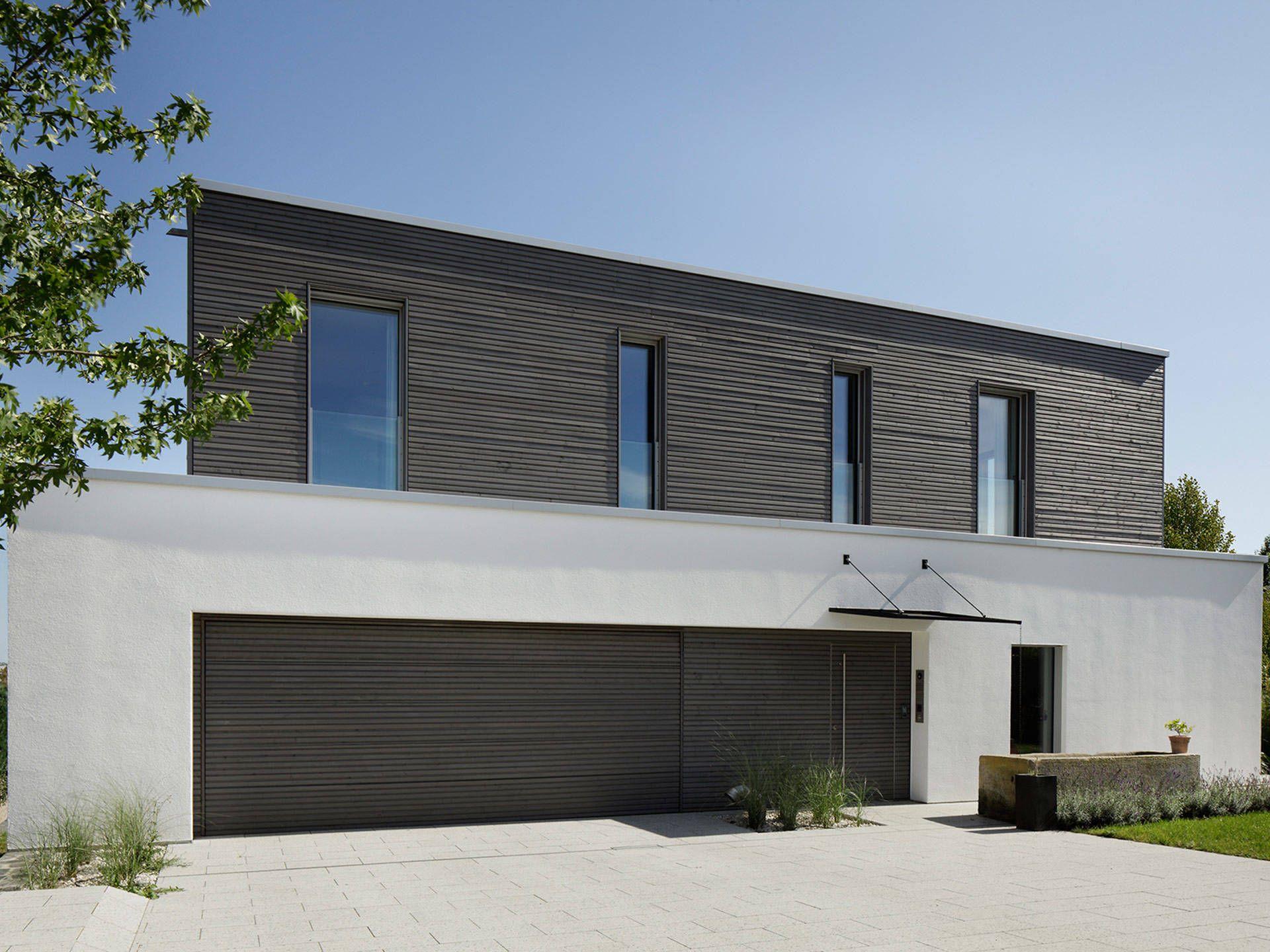 Musterhaus modern flachdach  Hauseingang vom Passivhaus Kiefer von Baufritz • Mit Musterhaus ...