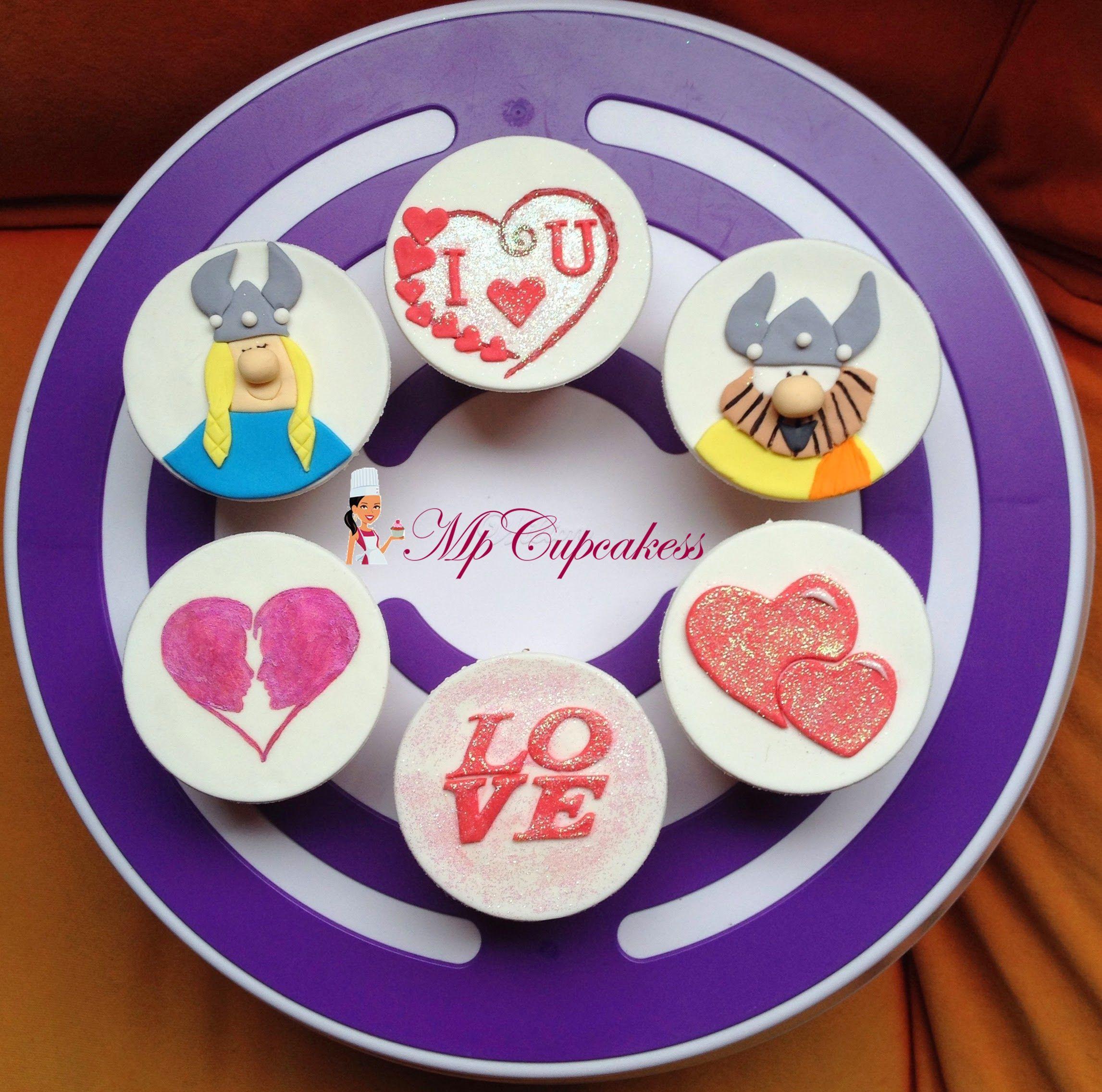 Cupcakes de amor / coroazones / Olafo