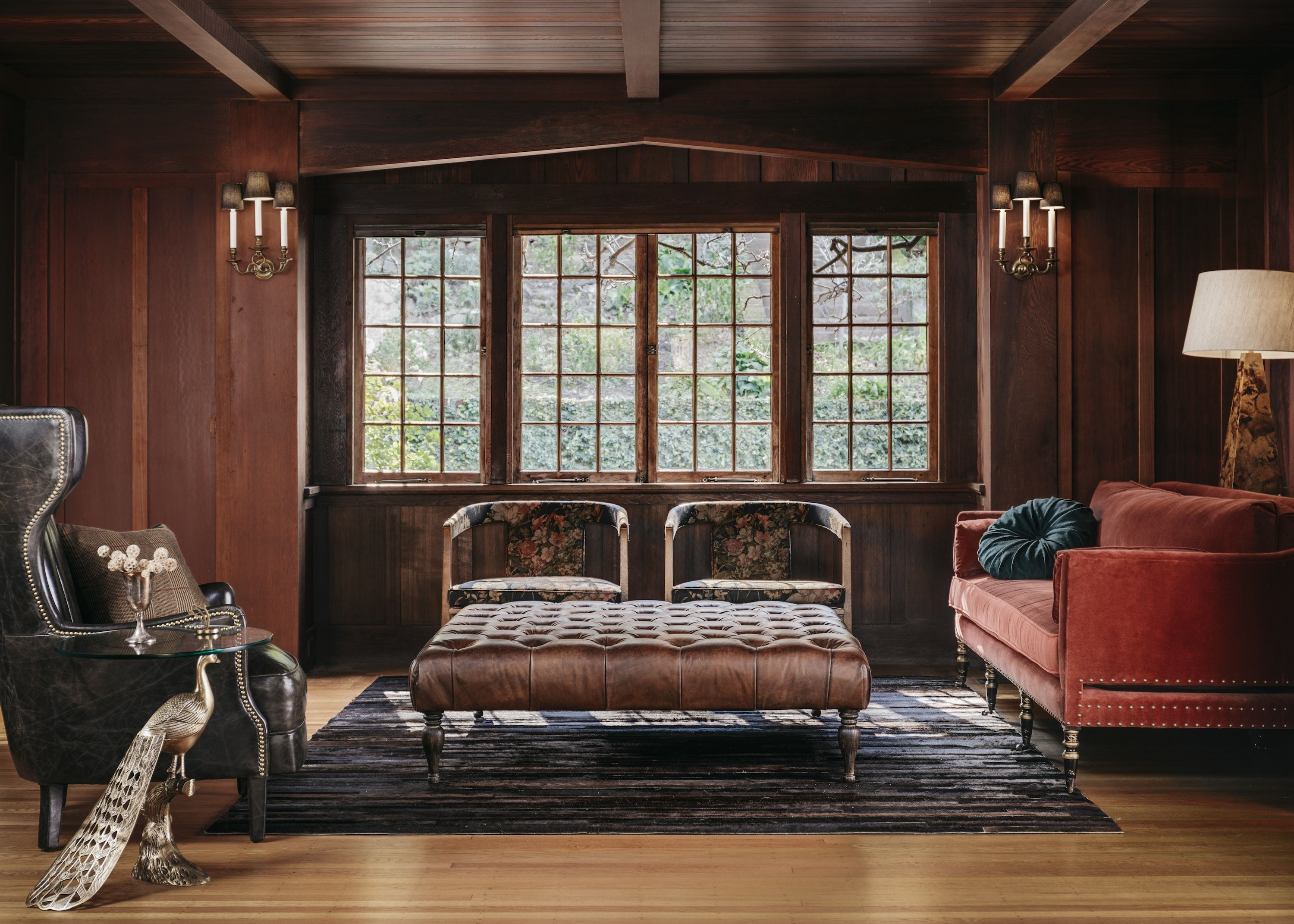 Best Craftsman Library With Wing Chair Burnt Orange Sofa 400 x 300