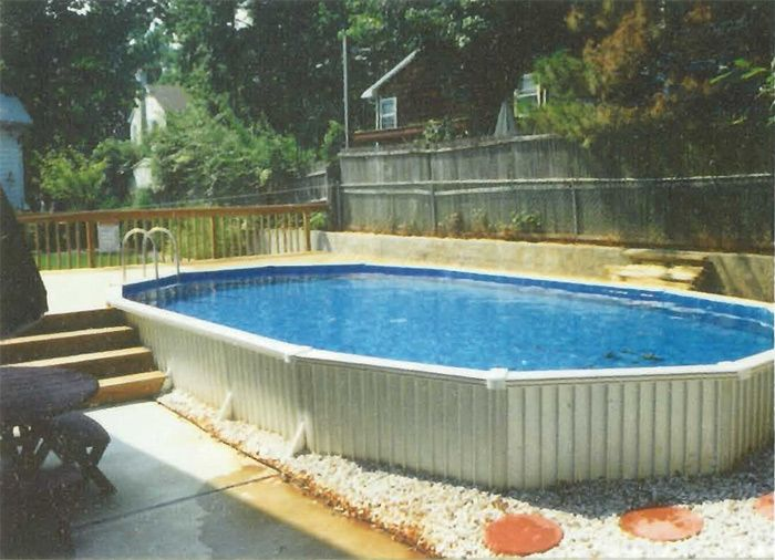 Above Ground Pools Clearance Aquasport 52 W Extruded Aluminum Wall Panels Can Be Buried