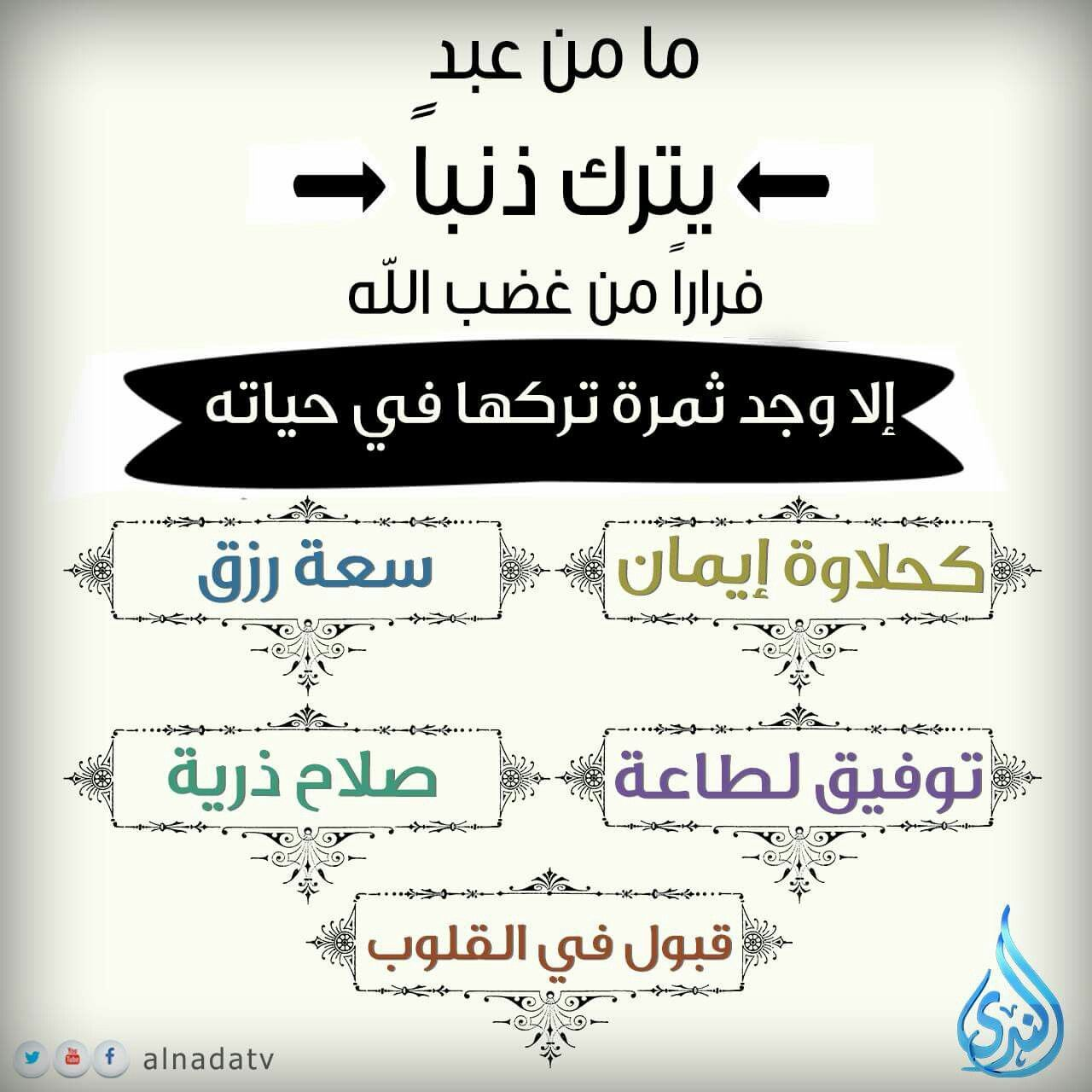 ما من عبد يتـرك ذنبـ ا فرار ا من غضب الله إلا وجد ثمـرة تركهـا في حياتـه Quotes Salaah Holy Quran