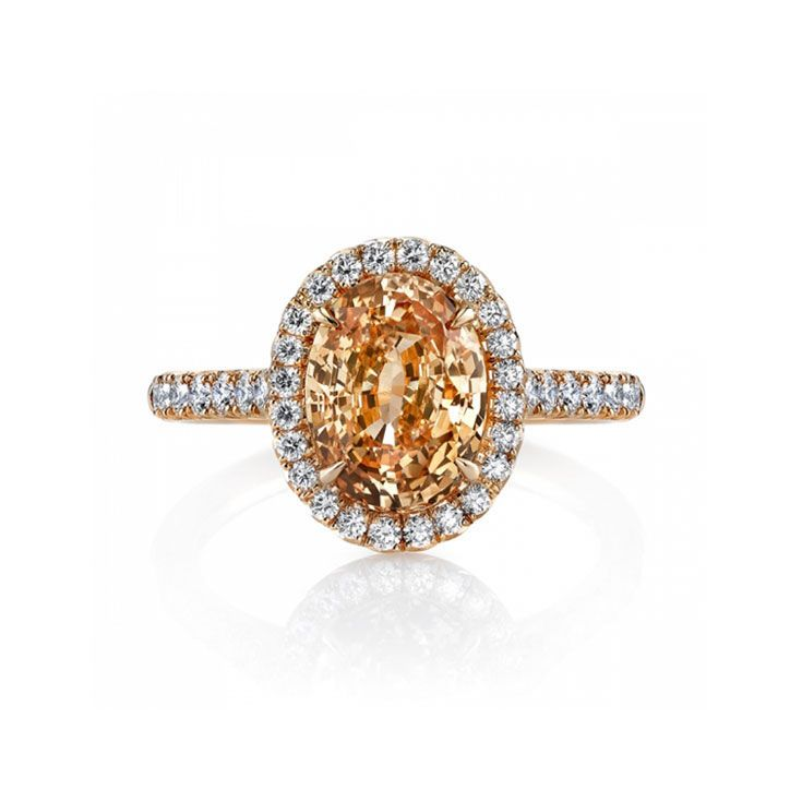 Colored Stone Engagement Ring Orange Shire And Diamond From Omi Gems Price Upon Request