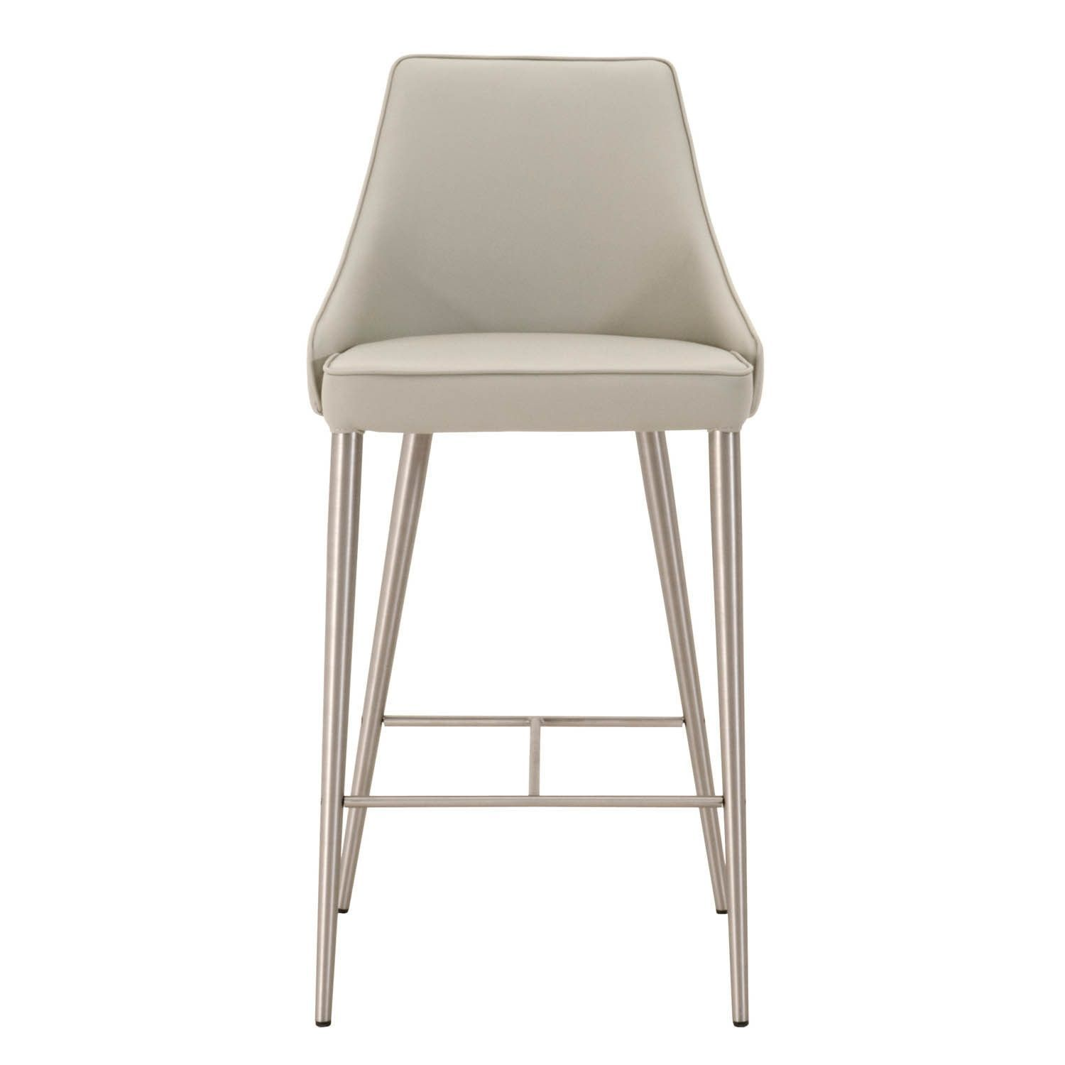 Incredible Modern Life Ira Light Grey Faux Leather And Stainless Steel Gmtry Best Dining Table And Chair Ideas Images Gmtryco