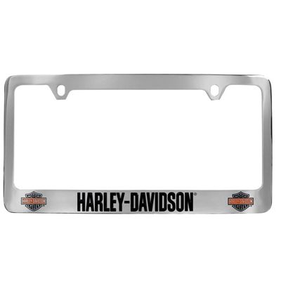 harley davidson colored bs frame license plate frame