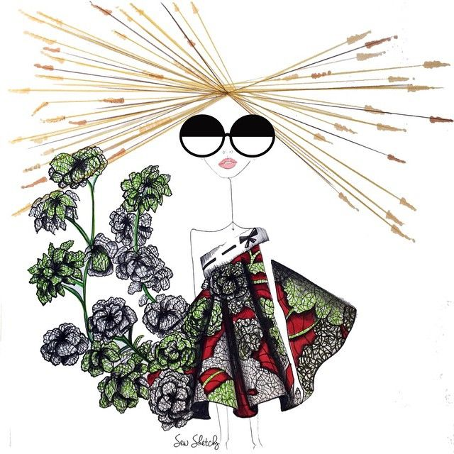 """""""Clearly this collection was inspired by Kale."""" @viktor_and_rolf Sew Sketchy"""