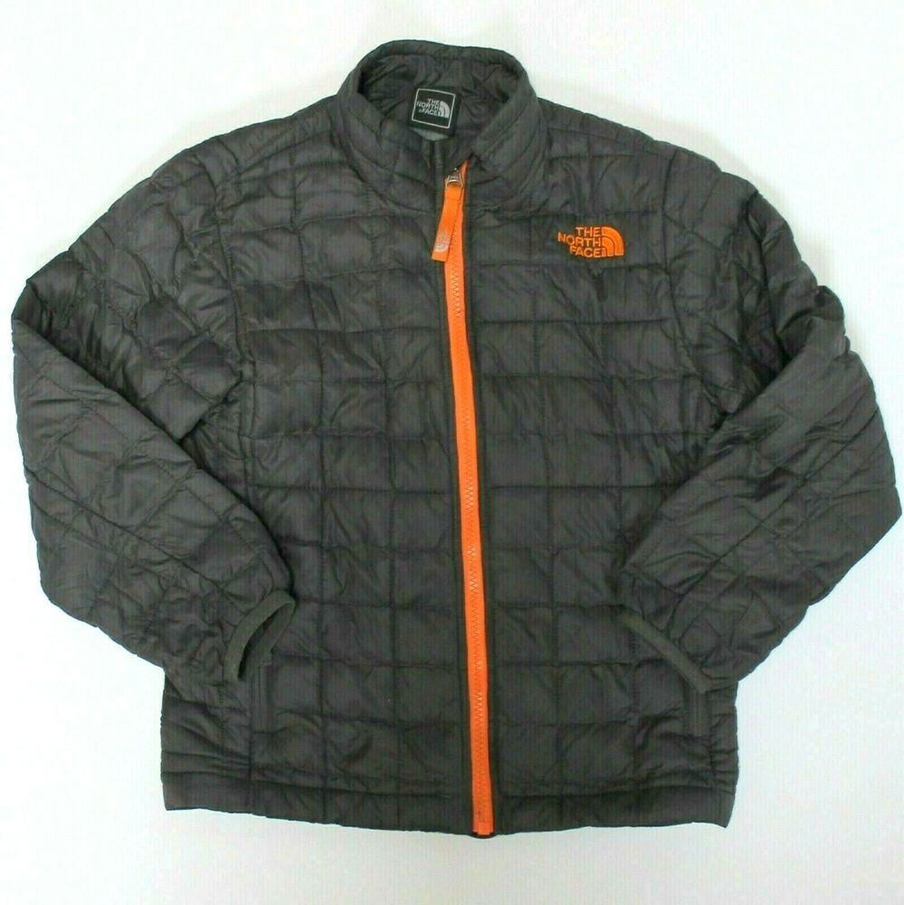 7aafb2bd4 The North Face Thermoball Boys Puffer Gray Jacket XS 6 #TheNorthFace ...