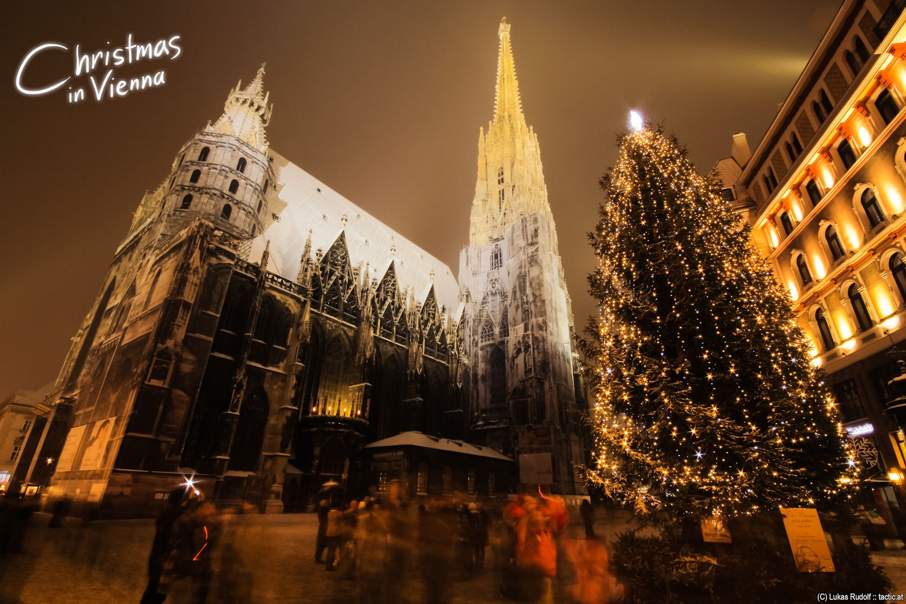 Christmas in Vienna Austria,Stephansdom