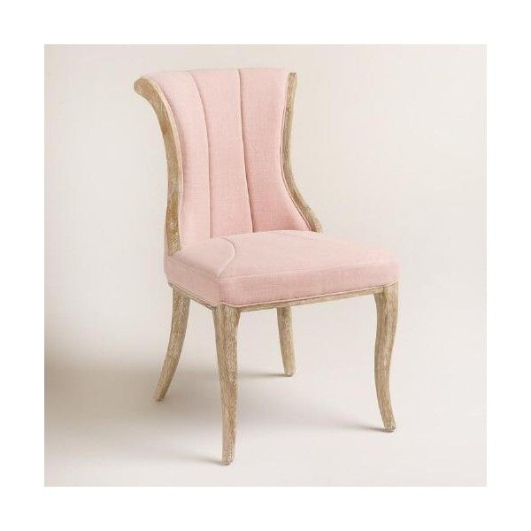 Cost Plus World Market Blush Channel Back Dining Chairs ...