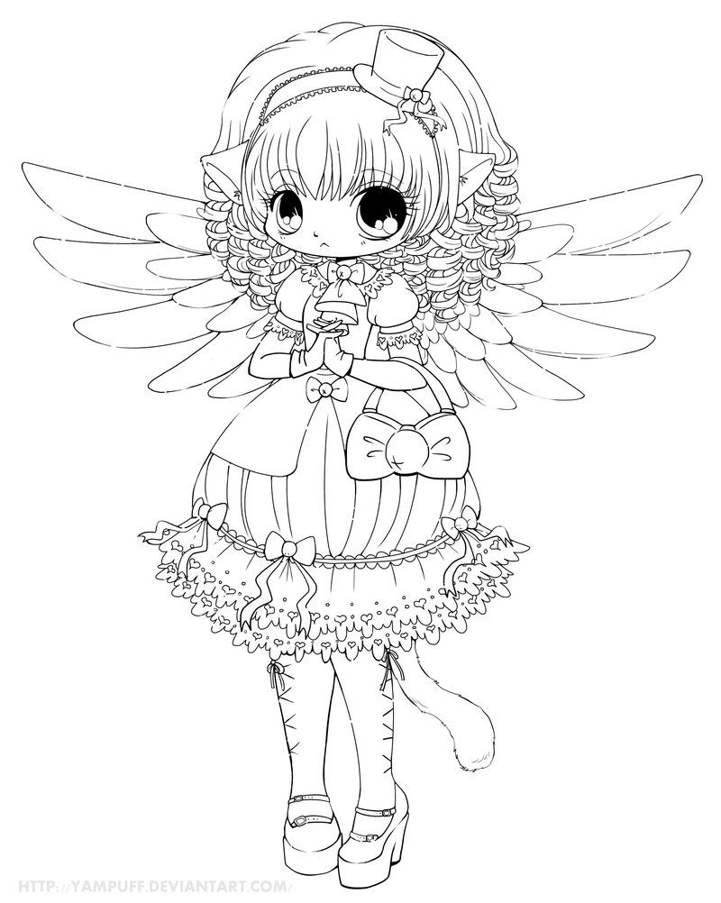 Saika Lineart Commish by *YamPuff on deviantART | Digi ...