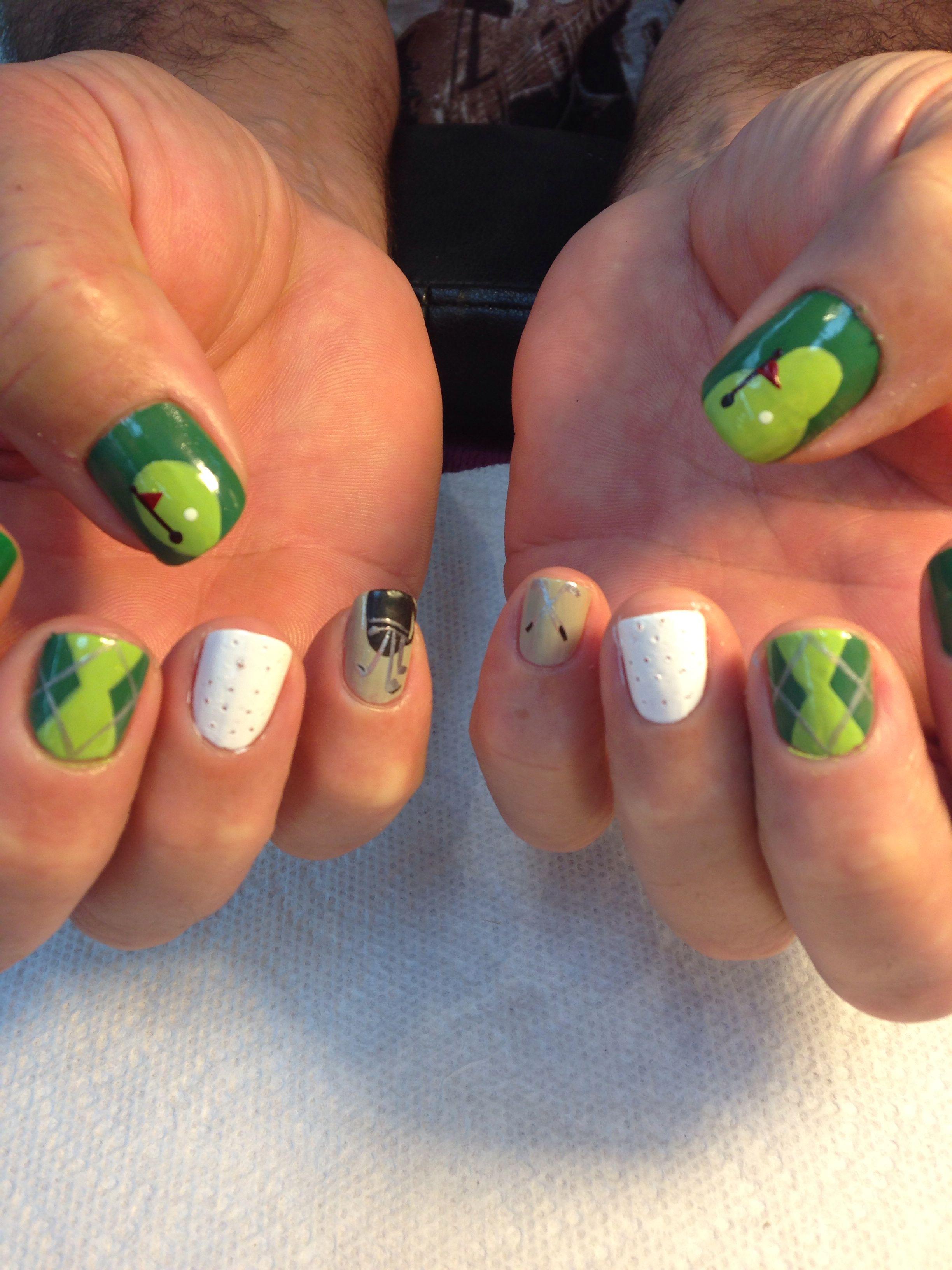 Golf Nail Art Sy Nails Fun Pretty Theme
