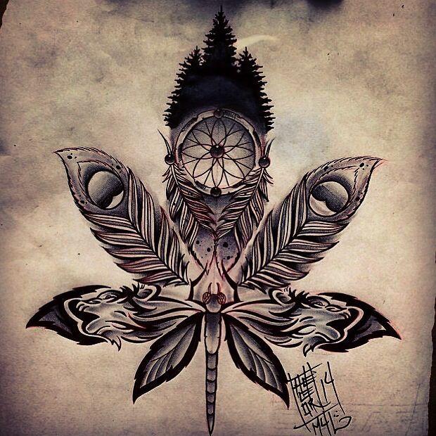 Tattoo Weed Leaf Drawings Pesquisa Google Blunt Life Tattoos