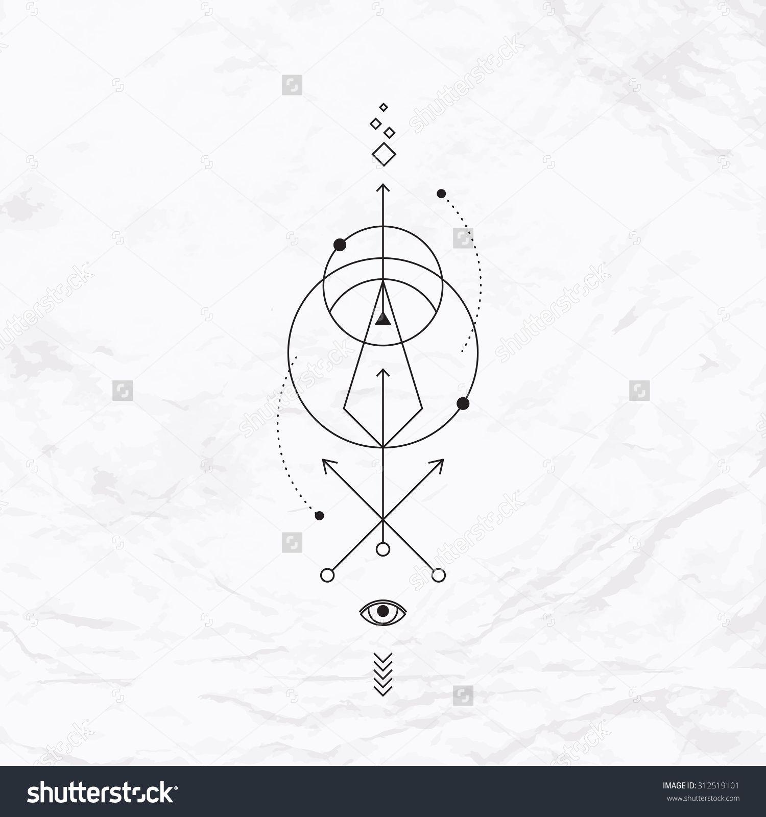 alchemy circle tattoo design photo 4 geometrical