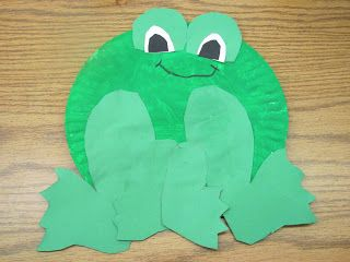 paper plate frog template can go with toad and frog book crafts